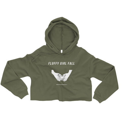 Fluffy Girl Fall Crop Hoodie