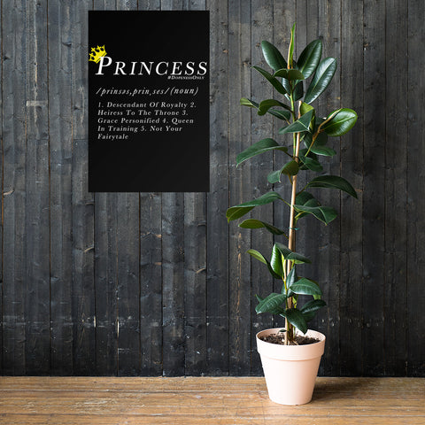 Princess Definition Premium Black Poster