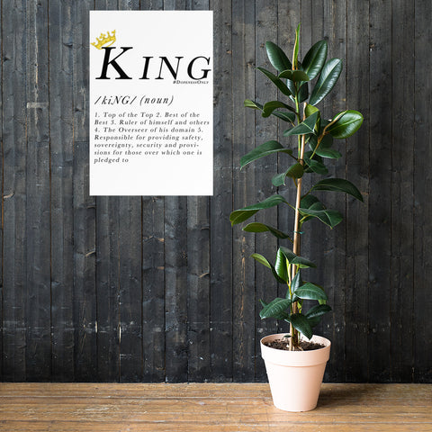 King Definition Premium White Print