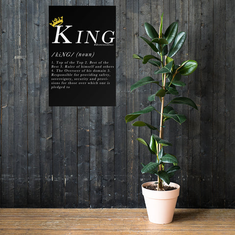 King Definition Premium Black Poster