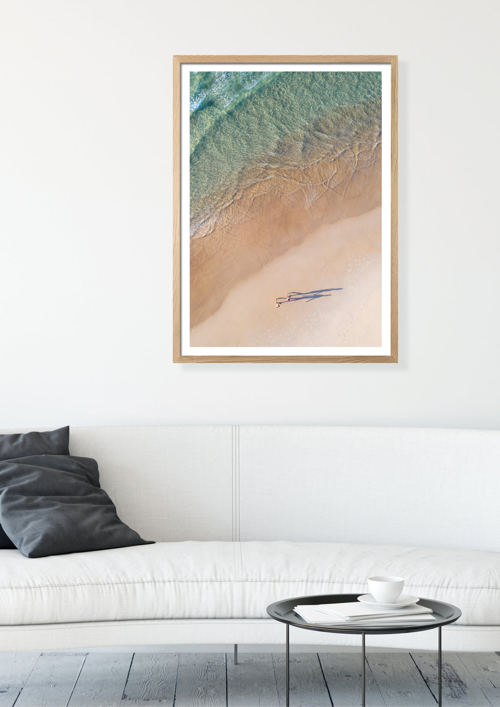 Coastal aerial photography print
