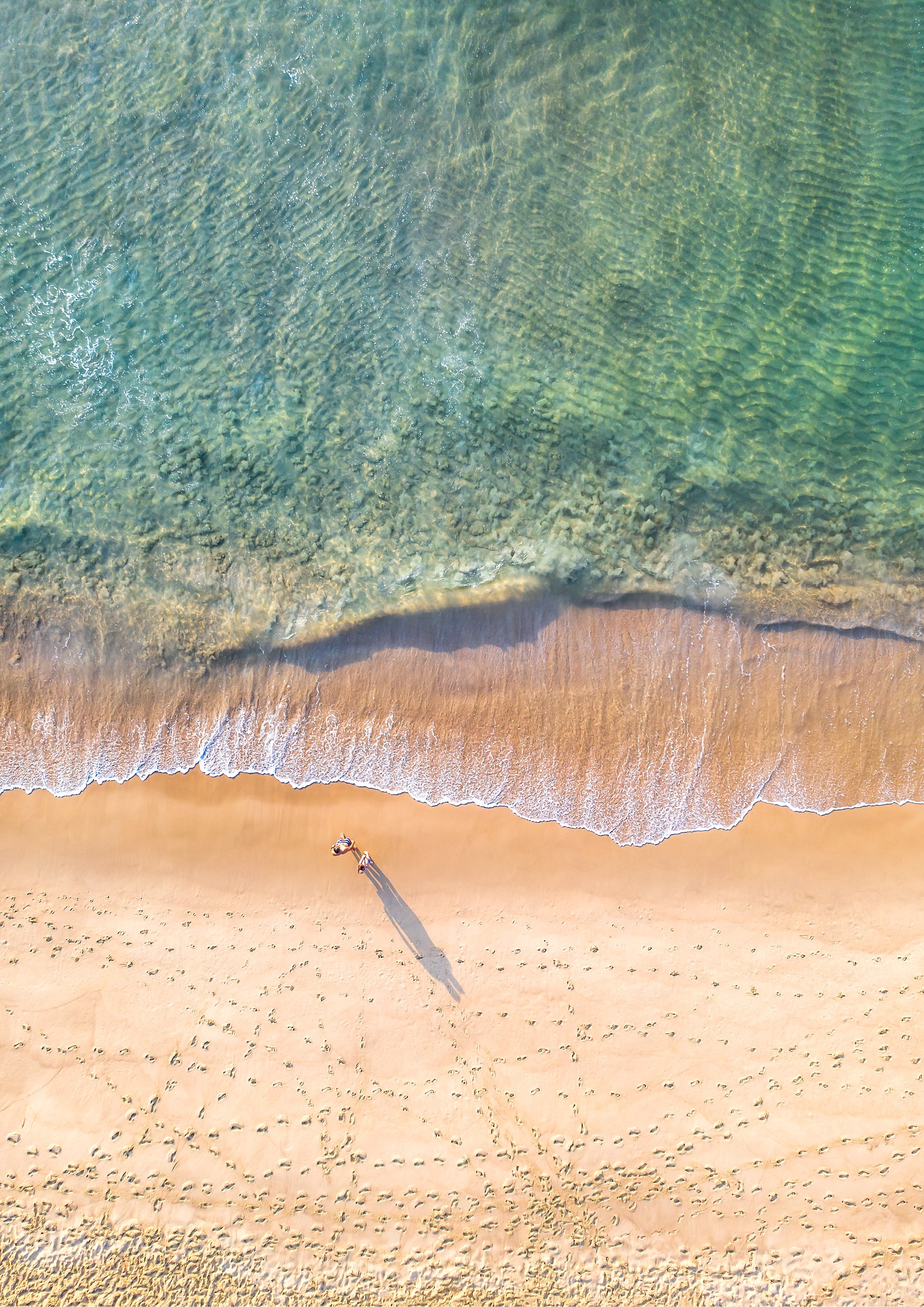 Coastal aerial photographic print - Newcastle Beach, NSW Australia