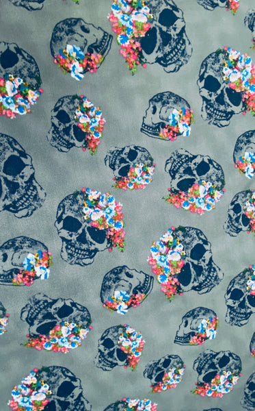 Skulls with Roses Face Mask