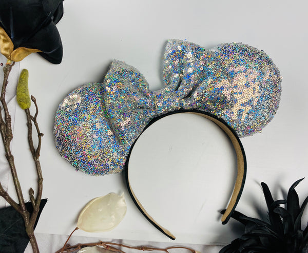 Holo Gray Sequin Ears