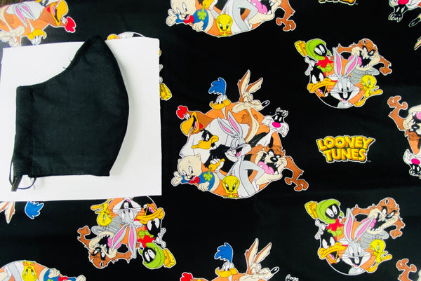 Black looney tunes Face mask