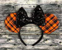 Orange plaid ears