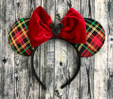 Plaid Christmas Ears