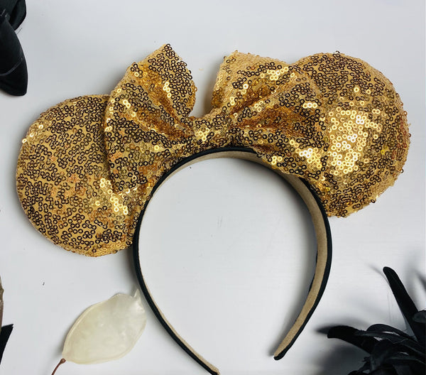 Gold Sequin Minnie Ears