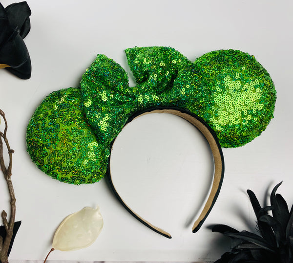 Holo Green Sequin Ears