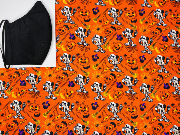 Mickey skeleton orange Face mask