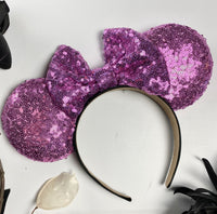 Berry Pink Sequin Minnie Ears