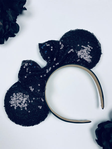 Black Sequin Minnie Ears