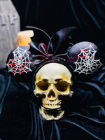 Heart Spider Web inspired Ears (glow in the dark)