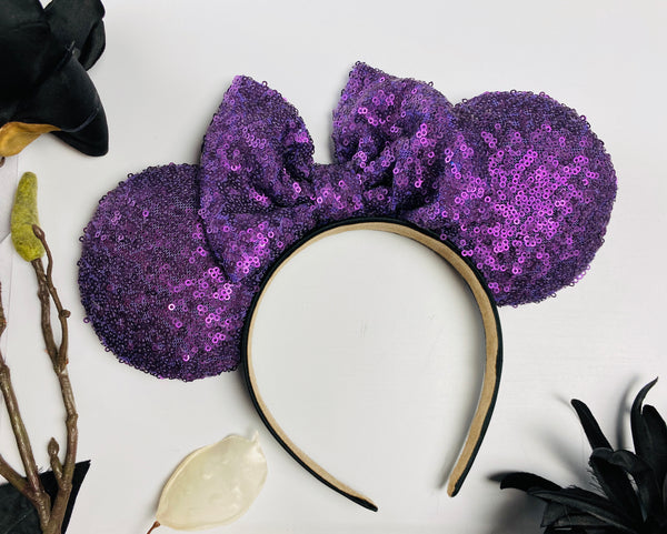 Matte Purple Sequin Ears
