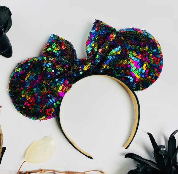 Colorful Sequin Minnie Ears