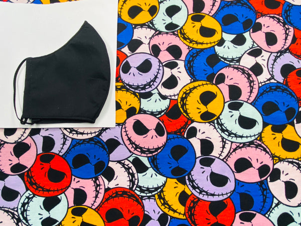 Colorful Jack Skellington Face Mask