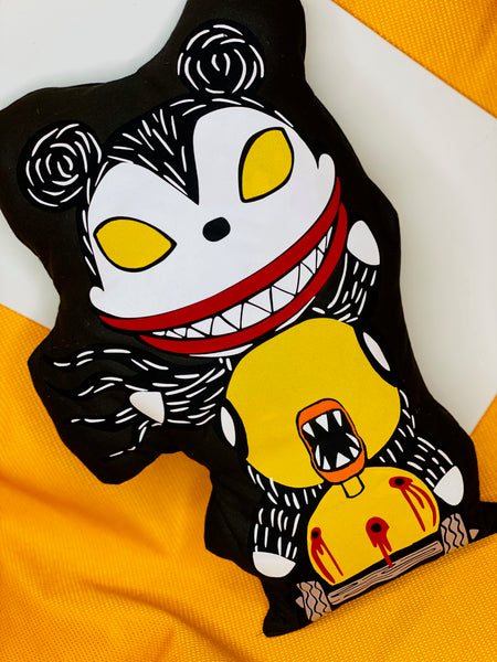 Vampire Teddy and Duck Inspired Pillow