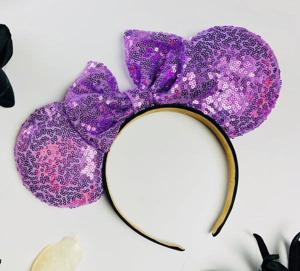 Lilac Sequin Minnie Ears