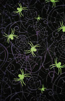 Spiderweb Glow in the Dark Face Mask