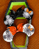 Mickey Web black and White with bat bow Ears