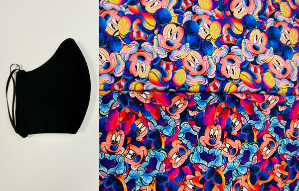 Mickey and Minnie Face Mask