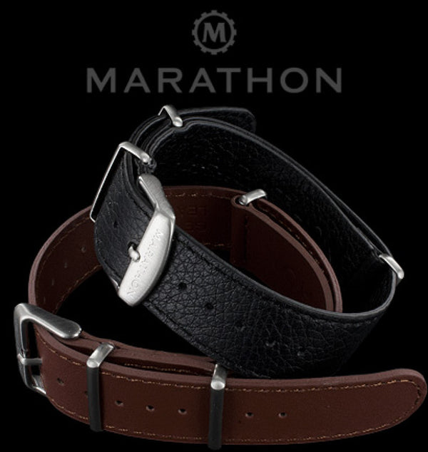 Marathon 20mm Leather NATO Watch Strap
