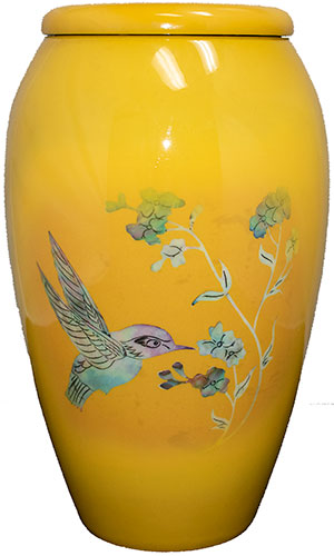 Yellow Bird Adult Cremation Urn