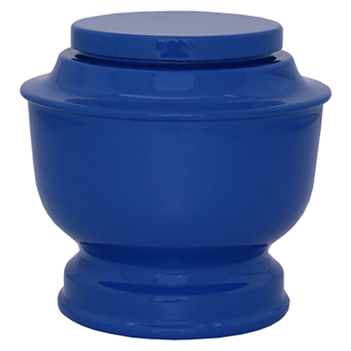 Blue Spun Cremation Metal Urn - Adult