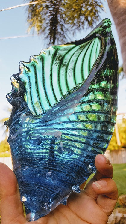 Conch Shell Ash-Infused Glass Urn - Your Choice of Color