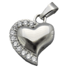 Diamond Cuffed Heart Memorial Jewelry