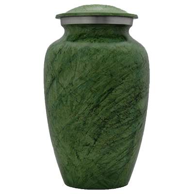 Green Earth Stone with Silver Accent  - Adult