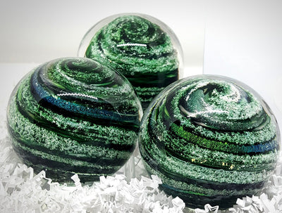Swirling Ash-Infused Blown Glass Urn - Color of Your Choice