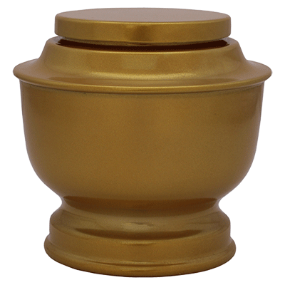 Gold Spun Cremation Metal Urn - Adult