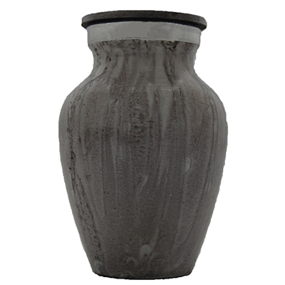 Keepsake Cremation Urn, Light Granite Pattern with Silver Accent -Small