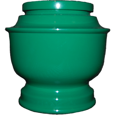 Green Spun Cremation Metal Urn - Adult