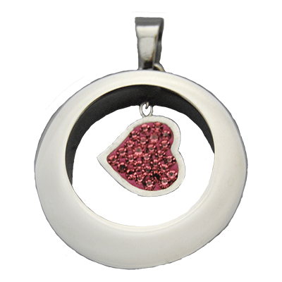 Hanging Heart Pendant Memorial Jewelry