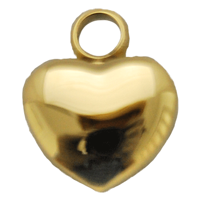 Mini Gold Heart Memorial Jewelry