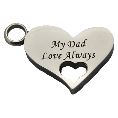 My Dad Heart Pendant Memorial Jewelry