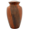 Cremation Metal Urn, Orange Planked Finish - Adult Funeral Memorial