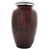 Cremation Metal Urn, Red Leopard Pattern - Adult Funeral Memorial