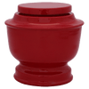 Red Spun Cremation Metal Urn - Adult