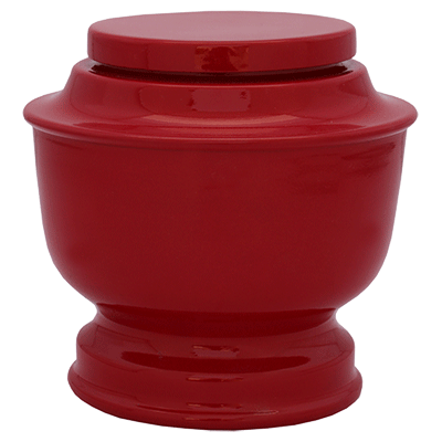 Red Alumina Adult Cremation Urn
