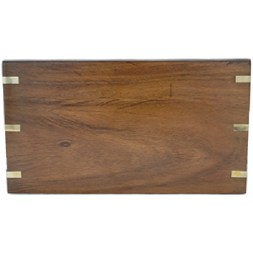 Cremation Urn Wood, Rosewood w Brass Hinge Accent - Adult Funeral Memorial