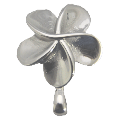 Stainless Flower Memorial Jewelry