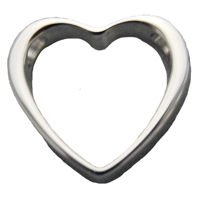 Stainless Trim Heart Memorial Jewelry