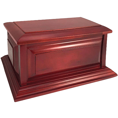 Cremation Wood Urn, Cherry Finish Colonial -  Adult Funeral Memorial