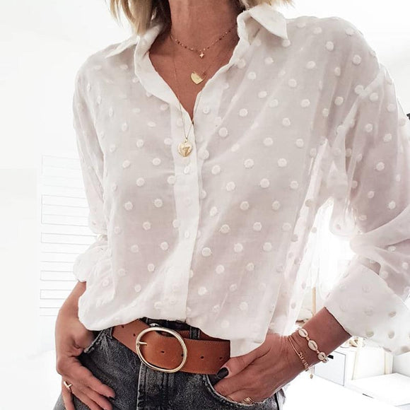 Womens Dotted Fashion Blouse