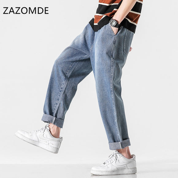 New Youth Popular Jeans pants  Men's Japanese Loose Denim Trousers