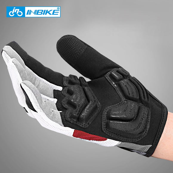 INBIKE Full Finger Cycling Gloves MTB Bike Bicycle Equipment Riding Outdoor Sports Fitness Touch Screen GEL Padded Accessories