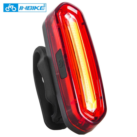 INBIKE Bike Taillight Waterproof Riding Rear light Led Usb Chargeable Mountain Bike Bicycle Light Cycling Light Tail-lamp